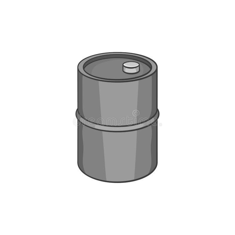 油桶象,黑单色样式 向量例证