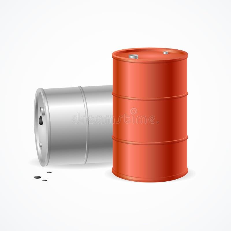 油桶鼓 向量 皇族释放例证