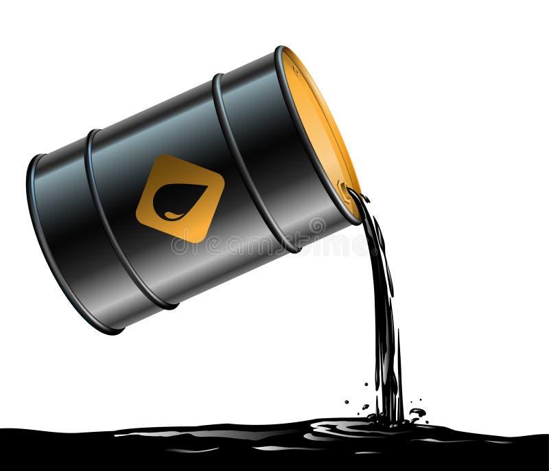 油桶 库存例证