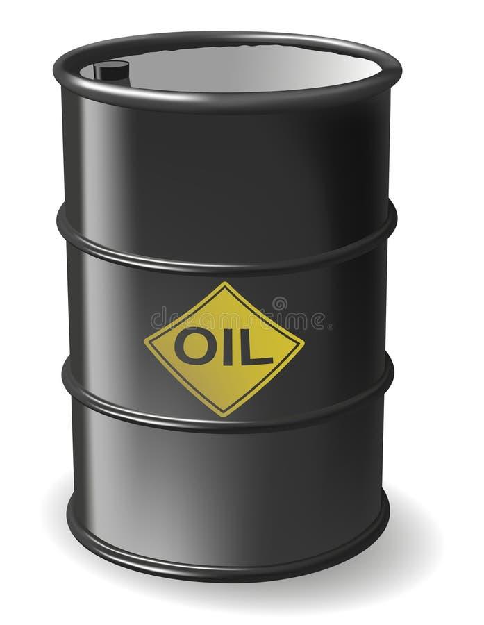 油桶 向量例证
