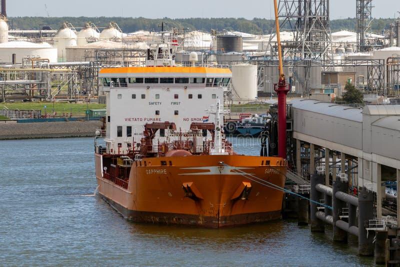 油槽航运港 免版税库存图片