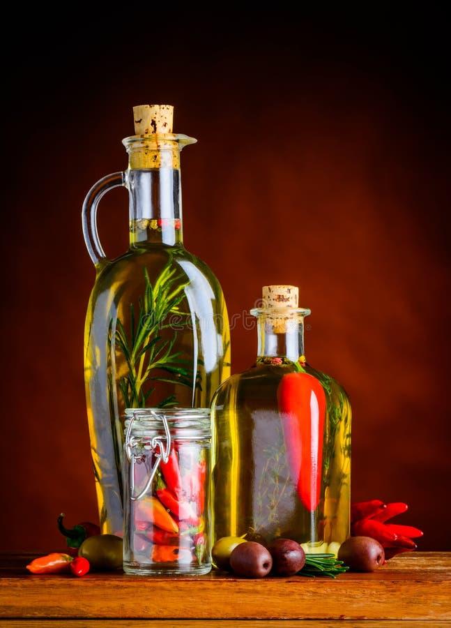 油橄榄胡椒 免版税库存照片