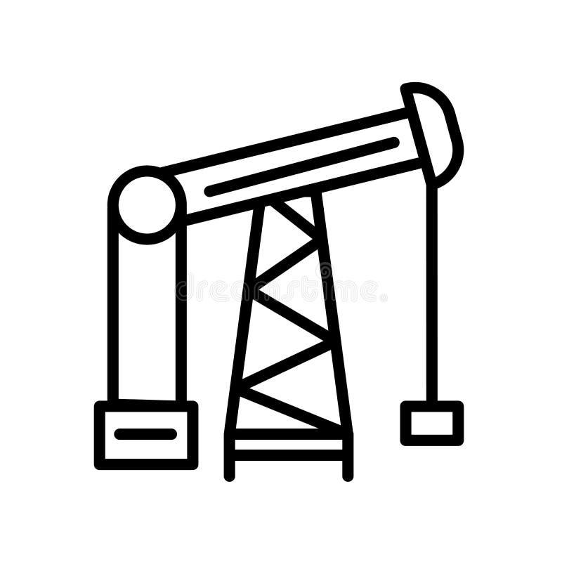 油泵在白色背景隔绝的象传染媒介,油泵标志 库存例证