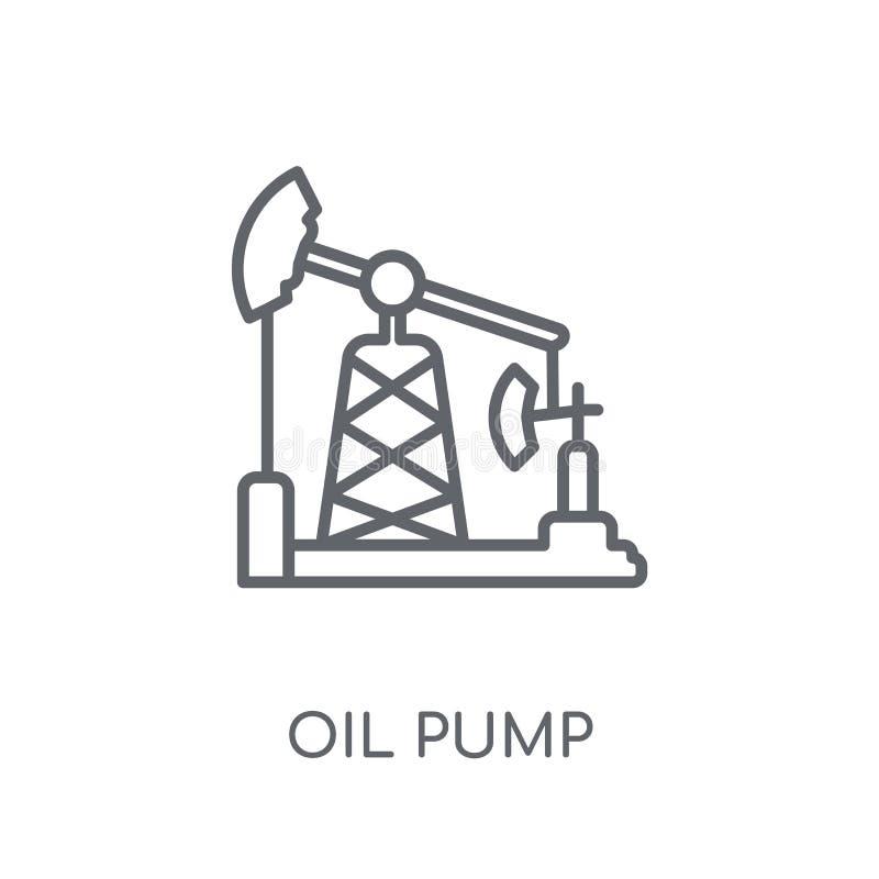 油泵线性象 在wh的现代概述油泵商标概念 向量例证