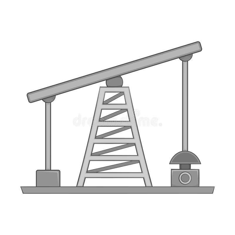 油泵象,黑单色样式 向量例证