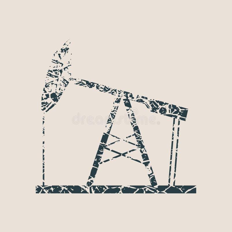 油泵难看的东西象 皇族释放例证