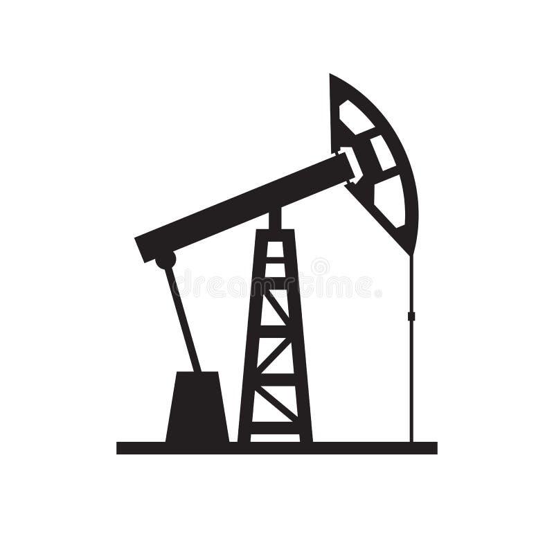 油泵-在白色背景传染媒介例证的黑象网站的,流动applicaton,介绍,infographic 图象 皇族释放例证