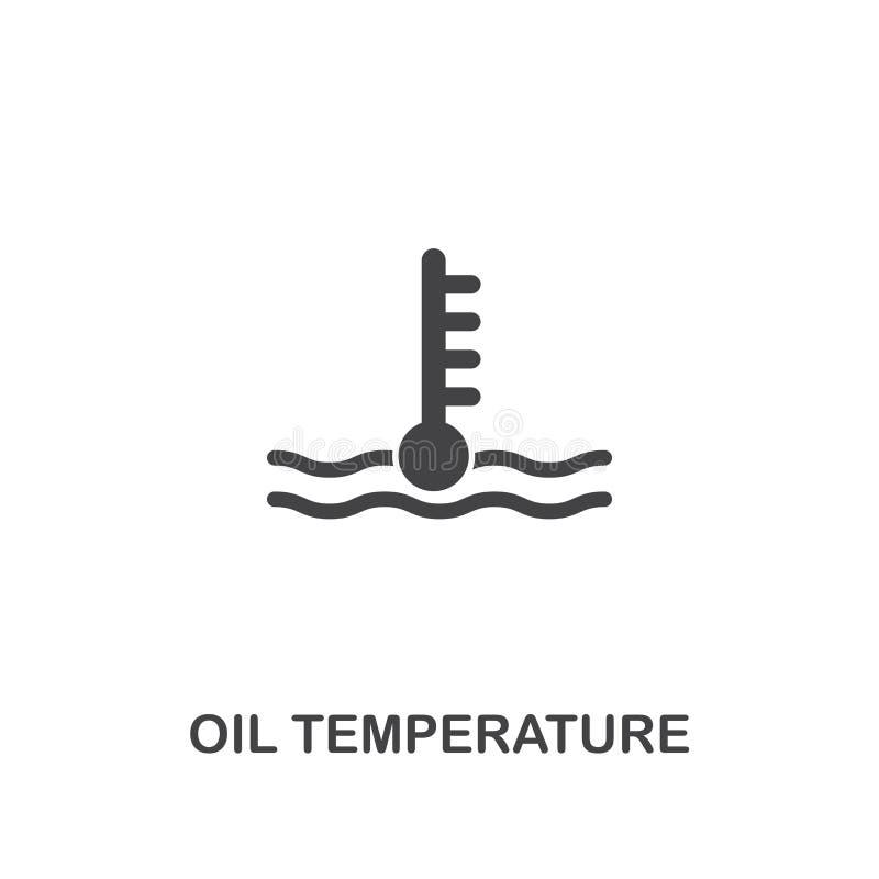 油温创造性的象 简单的元素例证 油温概念从汽车零件汇集的标志设计 能b 库存例证