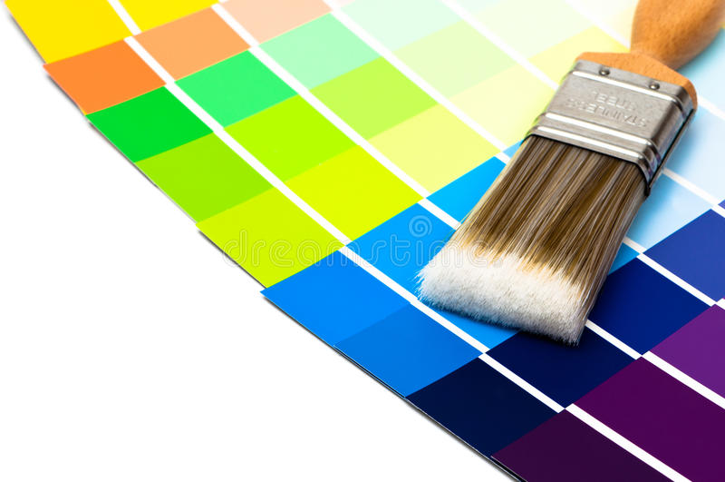 油漆刷样片 免版税库存图片