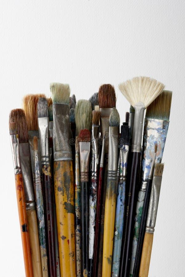 油漆刷 免版税库存照片