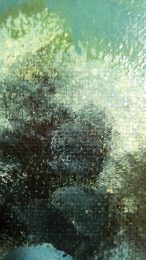 油漆污迹特写镜头帆布的表面上的 免版税库存照片
