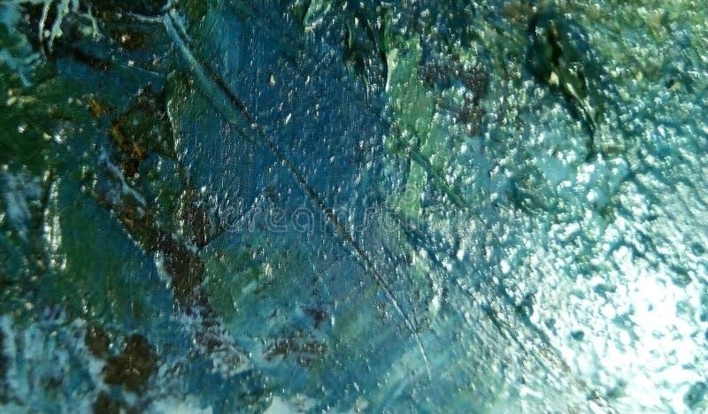 油漆污迹特写镜头帆布的表面上的 库存图片