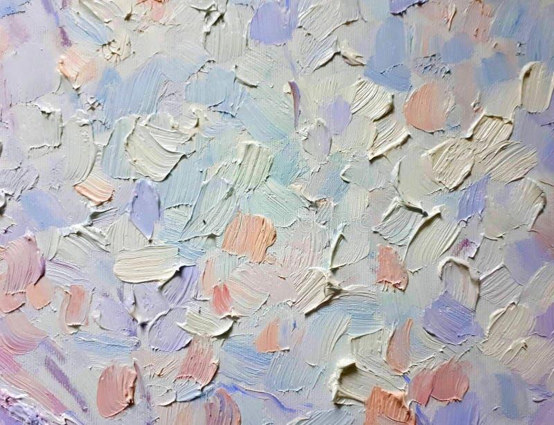 油漆油漆冲程和纹理在帆布,多彩多姿的冲程背景的  库存例证