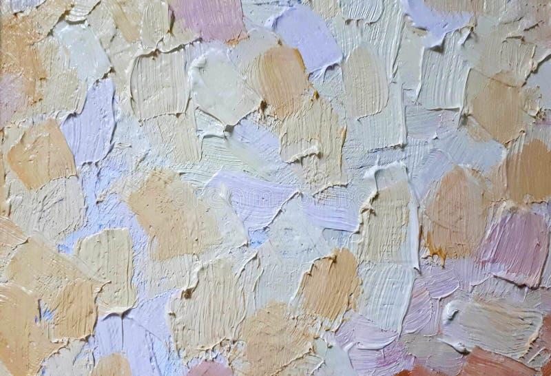 油漆油漆冲程和纹理在帆布,多彩多姿的冲程背景的  向量例证