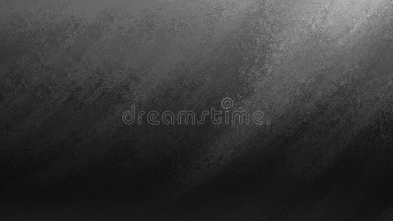油漆白色条纹在黑背景的在纹理设计,轻和黑暗的对角光芒或射线剧烈的壁角波浪  向量例证