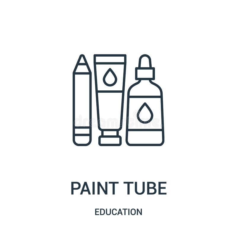 油漆管从教育汇集的象传染媒介 稀薄的线油漆管概述象传染媒介例证 库存例证