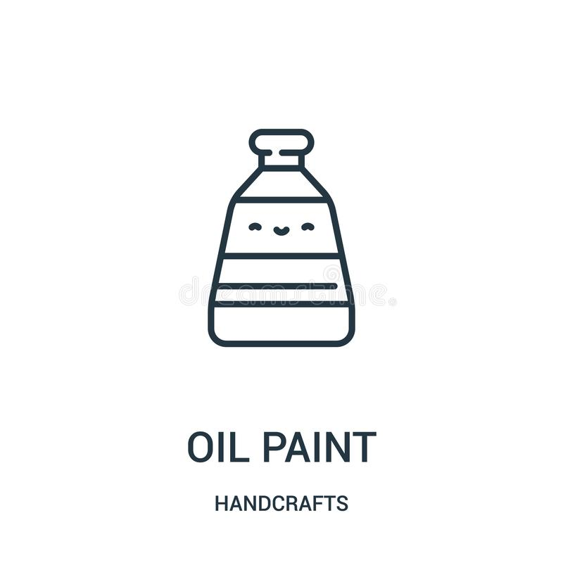 油漆象传染媒介从手工造汇集 稀薄的线油漆概述象传染媒介例证 线性标志为使用 库存例证