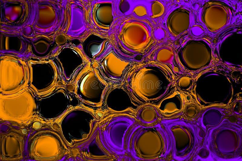 油漆颜色紫色和芥末混杂的油漆颜色/颜色抽象背景 免版税库存图片