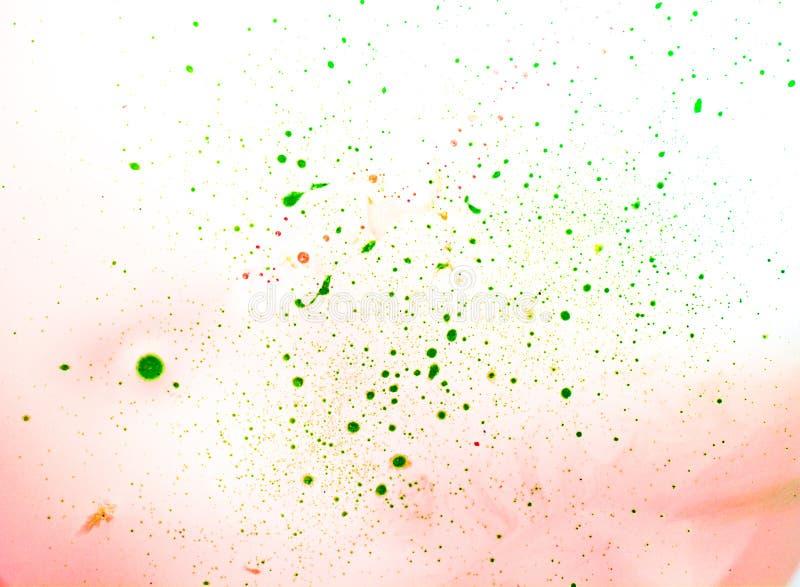 油漆绿色斑点  库存图片
