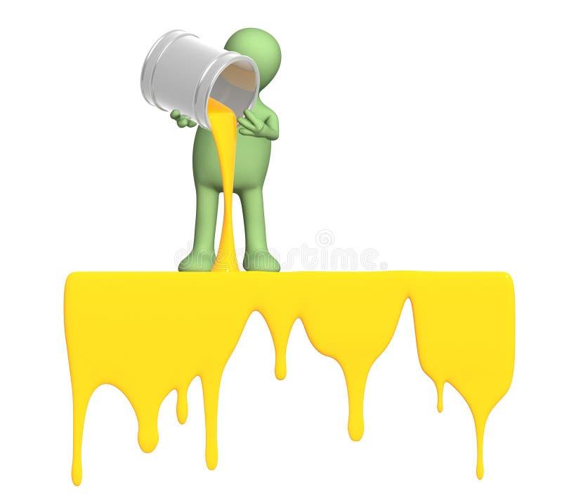 油漆 向量例证