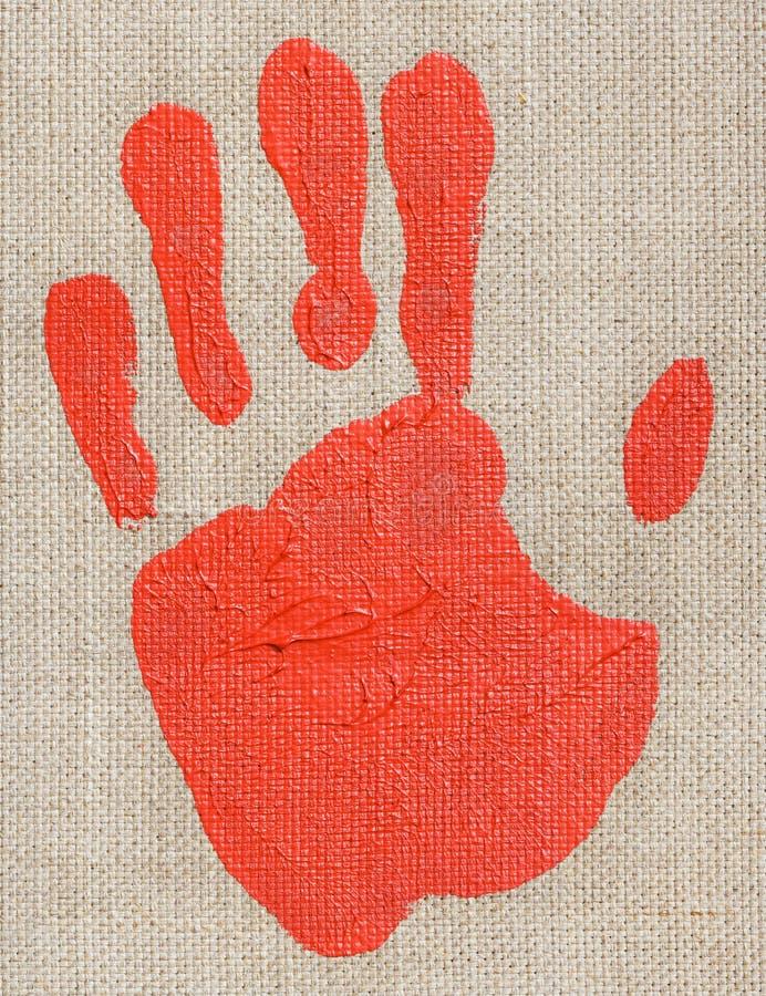油漆palmprint 库存照片