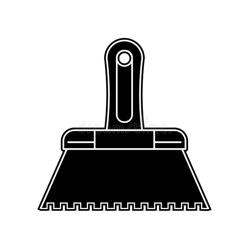 油灰刀象 家庭修理工具的元素为流动概念和网应用程序象的 纵的沟纹,网站设计的平的象和 库存例证