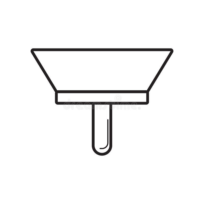 油灰刀象 Constraction工具的元素为流动概念和网应用程序象的 r 库存例证