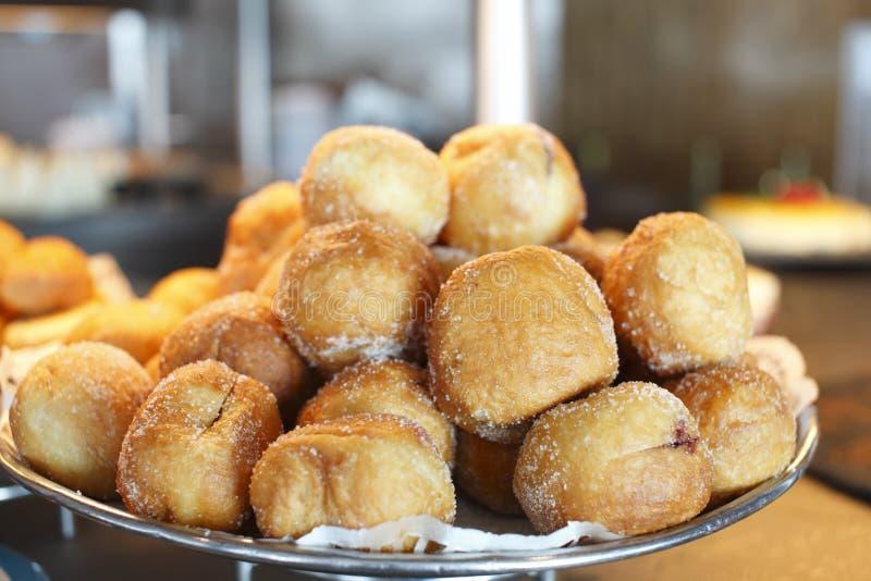 油炸圈饼糖 库存照片