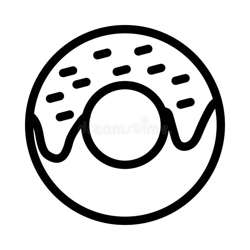 油炸圈饼象 向量例证