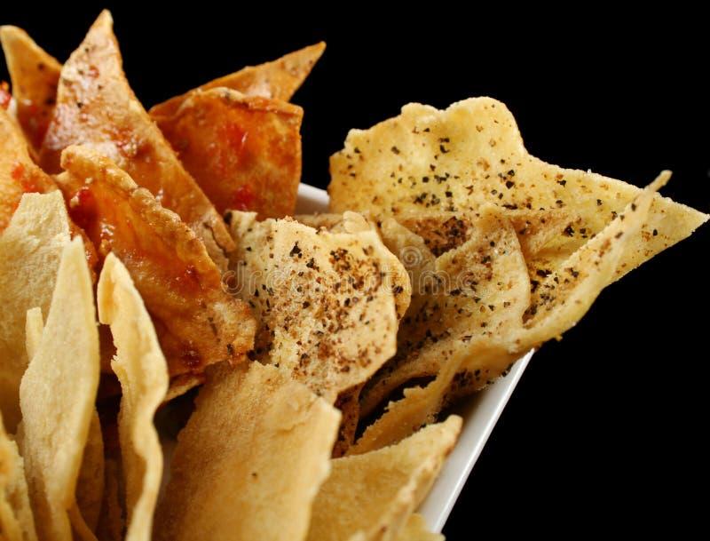 油炸马铃薯片回家pita样式 免版税图库摄影