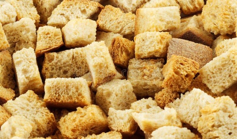 油煎方型小面包片宏指令 免版税库存图片