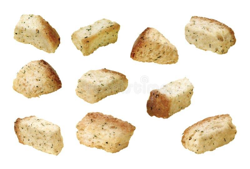 油煎方型小面包片 图库摄影