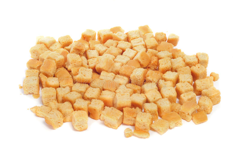 油煎方型小面包片 免版税库存图片