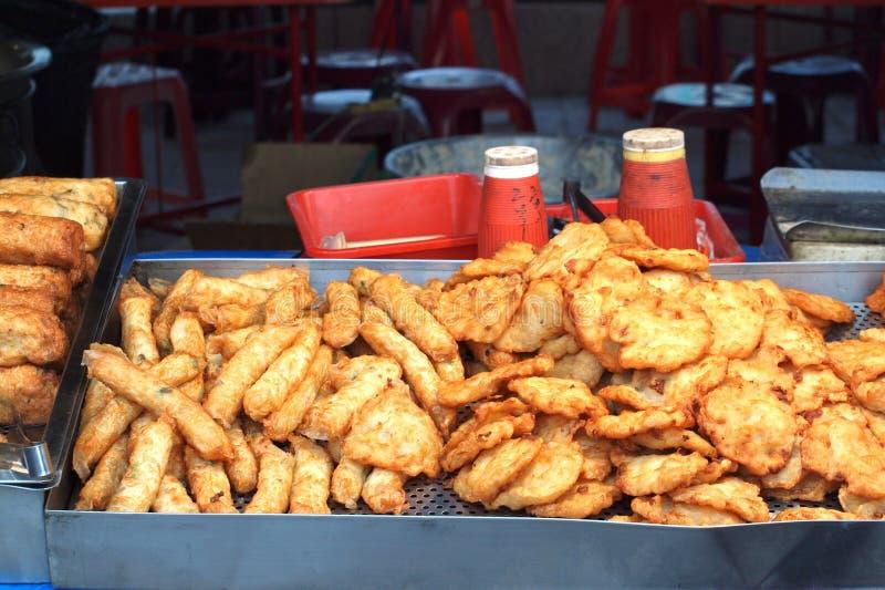 油煎的中国鱼香肠 库存照片
