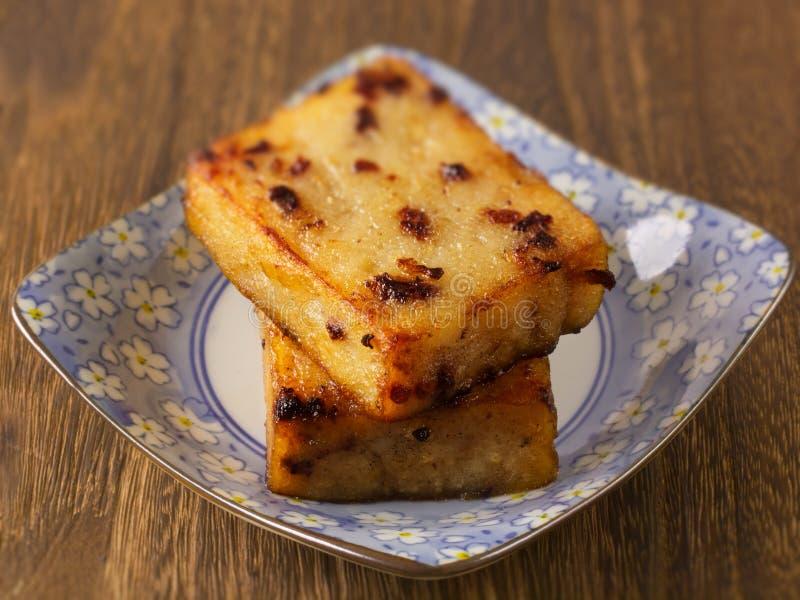 油煎的亚洲蛋糕红萝卜 免版税库存图片