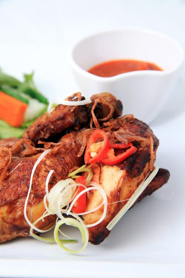 油煎的亚洲鸡 免版税库存照片