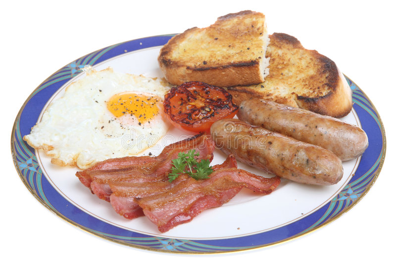 油煎的早餐英语 免版税库存照片