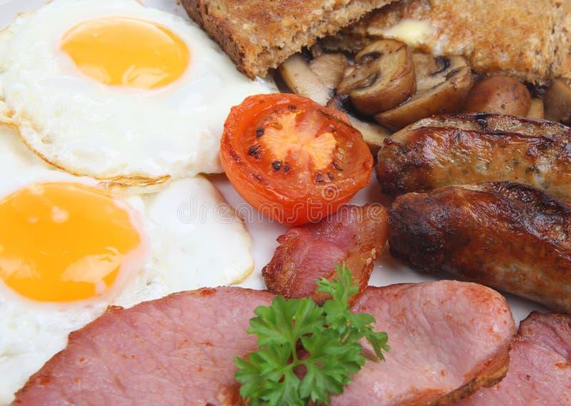 油煎的早餐英语 免版税库存图片