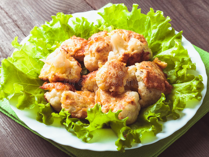 油煎的花椰菜 免版税图库摄影