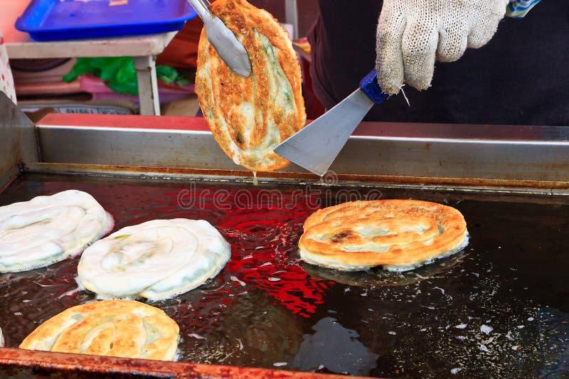 油煎的薄煎饼s台湾 库存照片