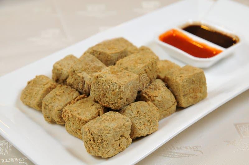 油煎的豆腐 免版税库存图片