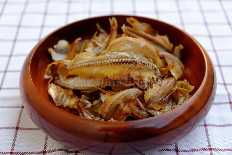 油煎的酥脆鱼 图库摄影