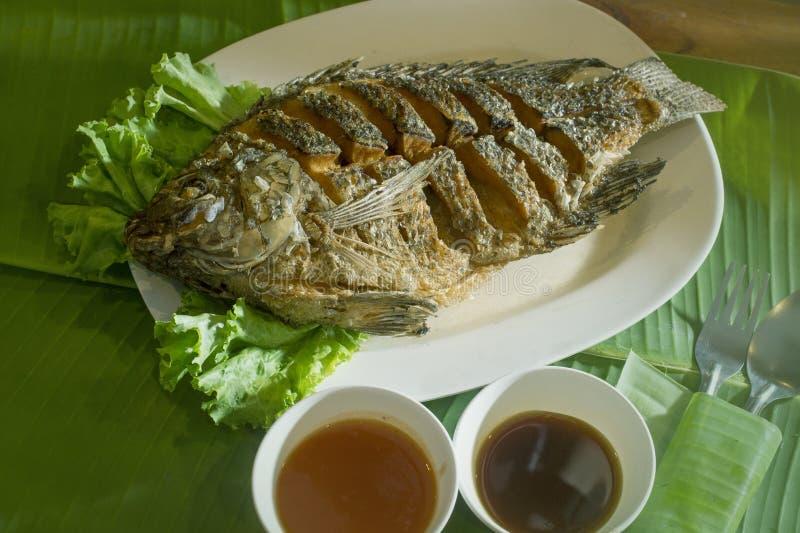 油煎的鱼 免版税库存照片
