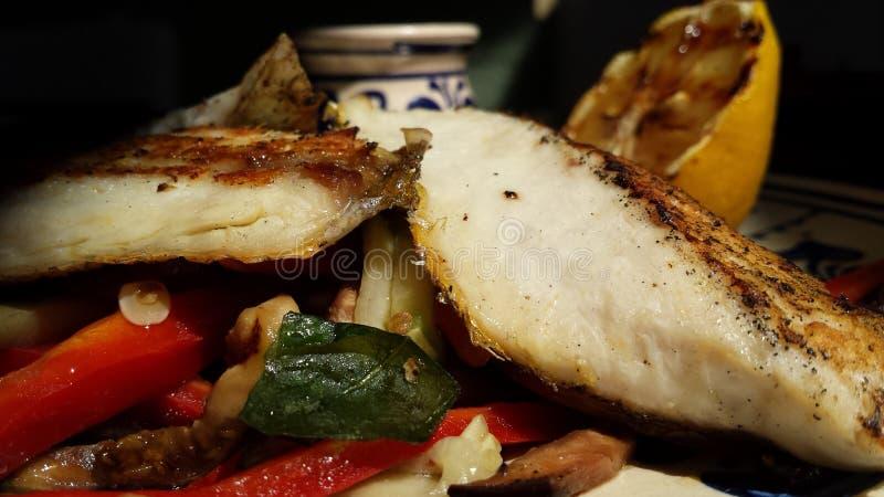 油煎的鲜鱼 免版税库存照片