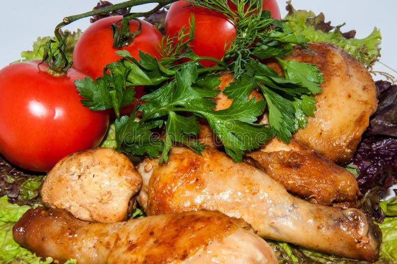 油煎的鸡… 图库摄影