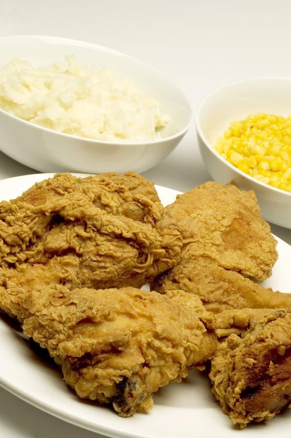 油煎的鸡正餐 图库摄影