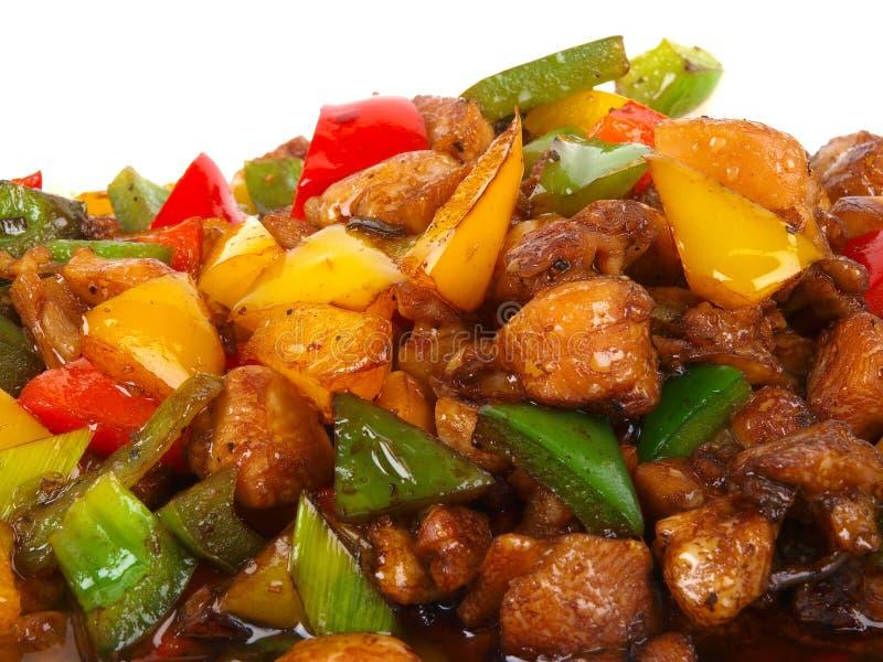 油煎的鸡汉语 免版税库存照片