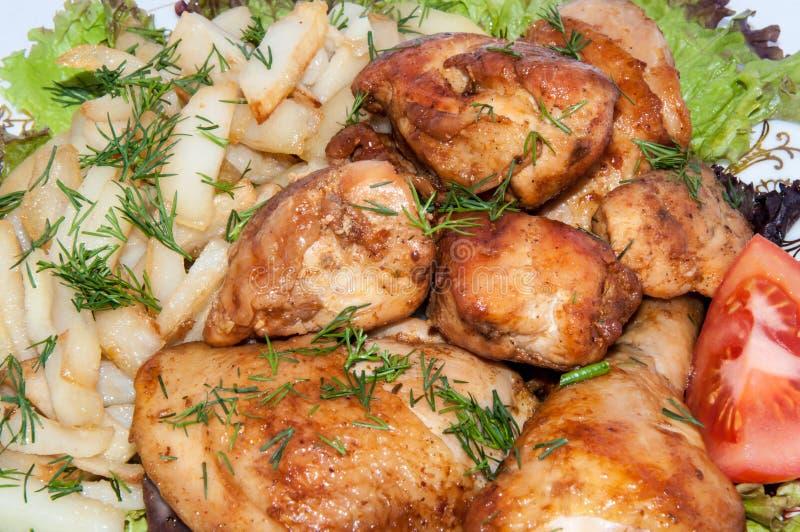 油煎的鸡 免版税库存图片