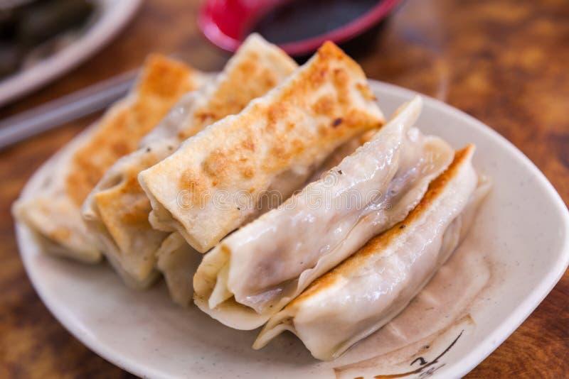 油煎的素食者饺子 库存图片