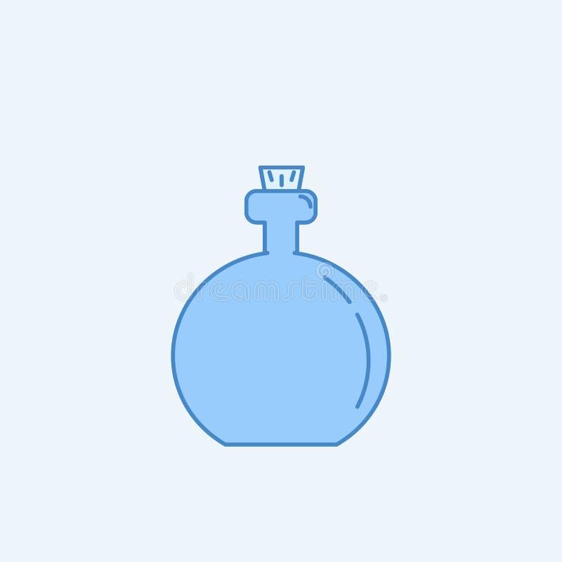 油瓶2种族分界线象 简单的蓝色和白色元素例证 油瓶概念概述从厨房的标志设计 皇族释放例证